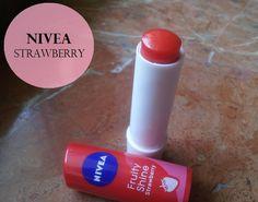 Nivea Fruity Shine Strawberry Lip Balm: Review, Swatches