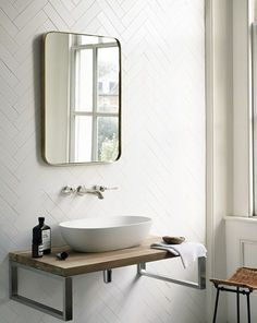 Fired Earth - herringbone on the walls, why not? Loved by #dabinteriors
