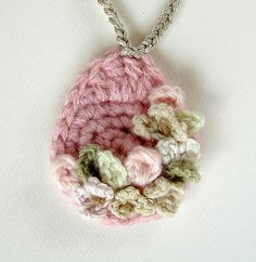 picture, crocheted pendant