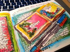  sketch books and journaling...