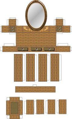 Todorecortables sue os de papel casas de recortables for Muebles de carton moldes