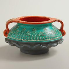 One of my favorite discoveries at WorldMarket.com: Painted Urali Terracotta Pot