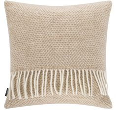 A by Amara Osterley Wool Cushion - 40x40cm - Beige (£30) ❤ liked on Polyvore featuring home, home decor, throw pillows, neutral, traditional home decor, neutral throw pillows, wool throw pillows, cream colored throw pillows and beige throw pillows