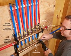 PEX pipe is the biggest revolution in plumbing since the flush toilet, and in this article we'll answer the most common questions homeowne . Pex Plumbing, Bathroom Plumbing, Bathroom Fixtures, Bathrooms, Home Fix, Home Inspection, Home Repairs, Do It Yourself Home, Home Projects