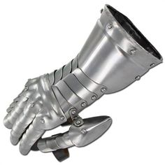 Full range of motion is granted with these Medieval Gauntlets. Can be worn with or possibly without gloves. Flexible steel scales are riveted together forming impenetrable armor. Cowhide Leather, Suede Leather, Knight Gauntlet, Foam Armor, Medieval Knight, Suit Of Armor, Samurai Swords, Leather Gloves, Pairs