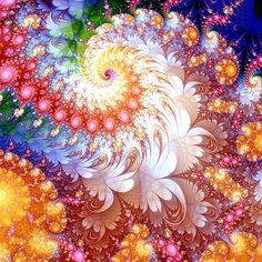 Fractals in Art - I'm fascinated by fractals, they remind me of PMAWI (persistent migraine aura without infarction)