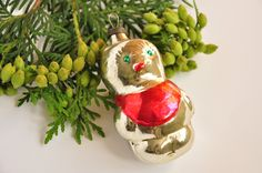 Vintage ornaments, Indent Ornaments, Painted Glass Ornament, Vintage Glass Christmas Ornaments, Retro Christmas,Mercury Glass Bulbs by MagicOrnamentsShop on Etsy