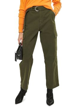 Free shipping and returns on Topshop Combat Pocket Utility Trousers at Nordstrom.com. Robust utility design and an olive-green hue make these comfy twill-woven cotton pants a hard-working, off-duty staple.