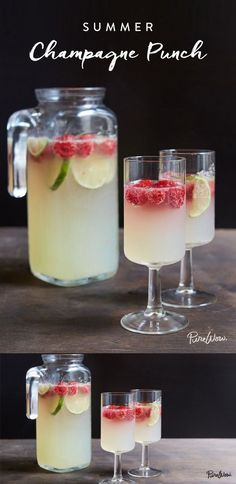 1 Lime. 2 cups Raspberries. 3/4 cup Lime juice. 2 cups Tonic water. 1 bottle Champagne or sparkling white wine. 1/2 cup Vodka.