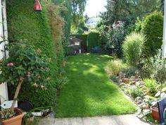 Dieser Garten wirkt durch Schilf, Bambus und anderen Pflanzen ...