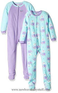 b5607d930d Baby Girl Clothes Gerber Little Girls 2 Pack Blanket Sleeper