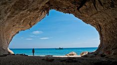 hotel playa Cala Luna cave by the sea Sardinien Italien Italy Beauty Dish, Italy Sea, Italy Italy, Venice Italy, Most Beautiful Beaches, Beautiful Places, Turquoise Water, Toscana, Land Scape