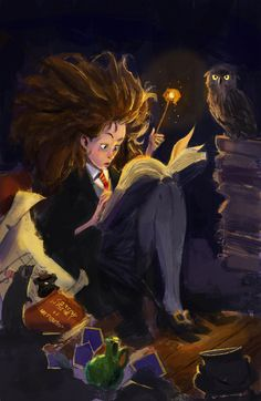 """""""Hermione Granger, truly the smartest witch of her age"""", 2014, by Chuan Ming Ong"""