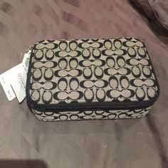 Brand new Traveling Jewelry Case by COACH Never used! Authentic .  Smaller case to store your jewelry in, when you go on vacation! ;) offers welcome! ❤️ Coach Bags Cosmetic Bags & Cases