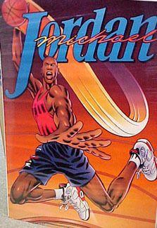 Michael Jordan SUPERMAN Vintage Original Nike 1991 Cartoon Action Poster - Sold for $29.99 April 2013