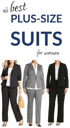 Plus Size Suits, Petite Suits, Tall Suits, & Maternity Suits The best plus-size suits for women -- w Plus Size Professional, Business Professional Outfits, Business Outfits, Plus Size Business Attire, Plus Size Workwear, Corporate Fashion Plus Size, Plus Size Suits, Look Plus Size, Plus Size Fashion For Women