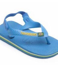 Havaianas Baby Brasil Logo Turquoise Blue