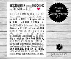 A4 KUNSTDRUCK FÜR ♥ GESCHWISTER ♥  von j-designerie - FEINE DRUCKSACHEN auf DaWanda.com