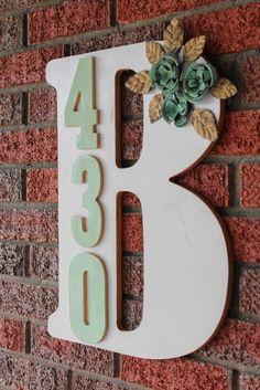 DIY Monogram Address Plaque - A Little Craft In Your DayA Little Craft In Your Day
