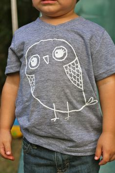 Children's TShirt Cute Owl Tshirt for Kids Fashion for Kids