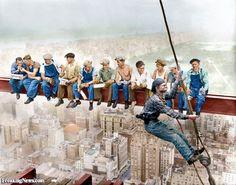 Construction Workers Lunch Break