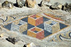Roman mosaic - 3d-effects