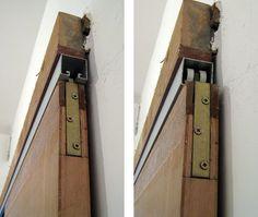 Reform reform: How sliding doors work . Sliding Door Design, Sliding Closet Doors, Sliding Door Hardware, Pocket Door Installation, Porta Diy, Barn Door Designs, Diy Barn Door, Barn Doors, Folding Doors