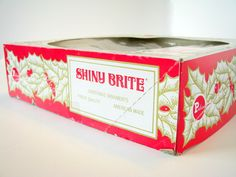 #Vintage Shiny Brite #Christmas Ornament Box #holidays $7.50, via Etsy.