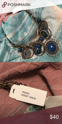 """Premier Jewelry Necklace """"Indigo"""" NWT necklace rich blue with antique finish Premier Designs Jewelry Necklaces"""