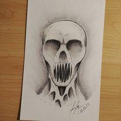 drawings demon scary creepy easy horror dark demons drawing sketches skull faces something nightmares screaming pencil ml depression arte inktober