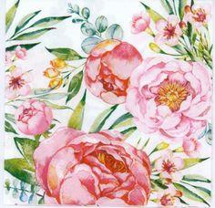 4x PAPER NAPKINS for Decoupage LITTLE SISTER Flowers Floral