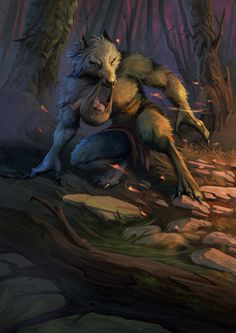 Mythical Creatures Art, Magical Creatures, Fantasy Creatures, Werewolf Stories, Werewolf Art, Arte Furry, Furry Art, Fantasy Races, Fantasy Art