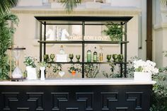 A simple and elegant look for your bar in @pantone's #greenery color || Featured on @strictlyweddings (Venue: @redbirdla | @vibianaevents | Food&Beverage: @nealfraser @tobinshea | Photo: @kristamasonphotography | Planner: @atyourdoorevents | Tabletop: @dishwishgirl | Florals: @shawnayamamoto | Linens: @Luxe_Linen | Invitations: @east_six | Rentals: @204events @borrowedblu | DessertTableStyling: @twosaparty | Cake: @sweetnsaucyshop |ArtisanChocolates: @wicked_treats | Wardrobe: @8thandgrand…