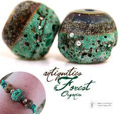 Lampwork Beads -  Forest Enchantment Organics (http://www.thelampworkbeads.com/forest-enchantment-organics/)
