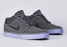 nike sb stefan janoski base grey black purple 03 570x400 Nike SB Stefan Janoski Mid   Dark Base Grey   Black   Purple