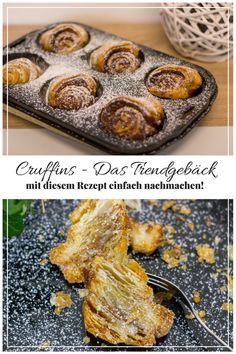 Kennt ihr Cruffins? DAS Trendgebäck aus den USA gibt es schon länger, in Deutschland scheint es aber noch nicht angekommen zu sein. Schade eigentlich, denn die Cruffins sind unheimlich lecker, leicht und locker! Ich zeige euch eine ganz einfache Variante. Probiert mal!