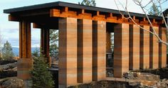 Love these rammed earth columns