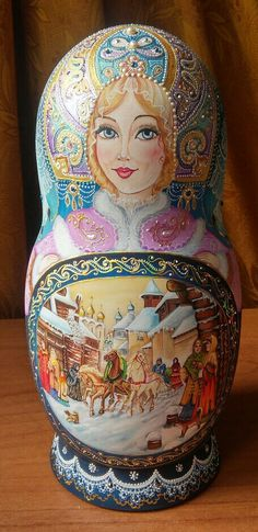"""Вологодское кружево"" Наташа Егорова, Nesting Dolls ""Vologda lace"" by Natasha Egorova"