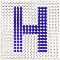 kralenplank letter h