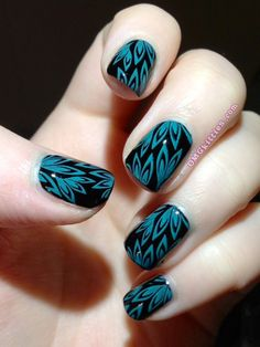 teal leaves,,omgkitties
