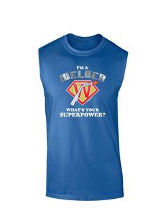 TooLoud Welder - Superpower Dark Muscle Shirt