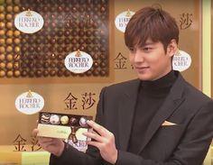 Lee Min Ho, opening of Ferrero Rocher store in Taiwan, 20151215.