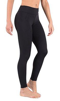 CRZ YOGA Donna Pantaloni a Vita Alta da Allenamento Leggins Sportivi con Tasche-63cm