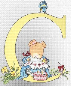 Buy Seraphina Alphabet Letter C Cross Stitch Kit Online at www.sewandso.co.uk