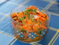 marinoidut porkkanat
