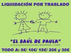 #Nájera El Baul de Paula ha comenzado hoy su período de #Liquidación por Traslado en el que encontrarás artículos en #moda y #calzado infantil desde 5€... ¡¡No te lo puedes perder!!