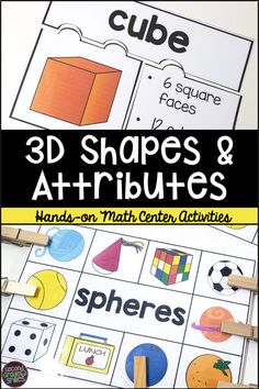 This 3D shape resource is filled with hands-on math centers perfect for primary students. These activities go beyond simple shape recognition and ask students to think deeply about shape attributes as they categorize 3D shapes and identify real life examples of them. Shape puzzles, clip cards, and more! Teaching Second Grade, Second Grade Teacher, 2nd Grade Classroom, Third Grade Math, Hands On Learning, Learning Activities, Think Deeply, Shape Puzzles, Teaching Phonics
