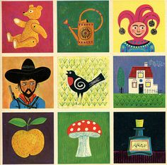 Images from vintage lotto game by Ninainvorm, via Flickr
