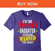 Mens Funny father shirt I'm crazy daughter everyone warned you ab 2XL Purple - Relatives and family shirts (*Amazon Partner-Link)
