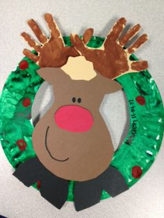 Hand Print Reindeer - find more classroom ideas at bicountycrafters.com